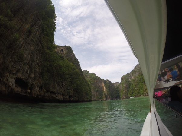 Entering Pileh Lagoon